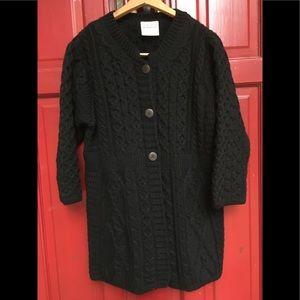 Kilronan knitwear Irish cable knit cardigan M